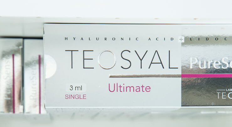 Boxes of Teosyal injectable fillers.